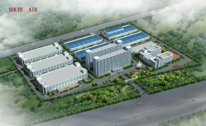 美国舒尔(Solve Air)环保科技空气净化器研发生产基地鸟瞰图