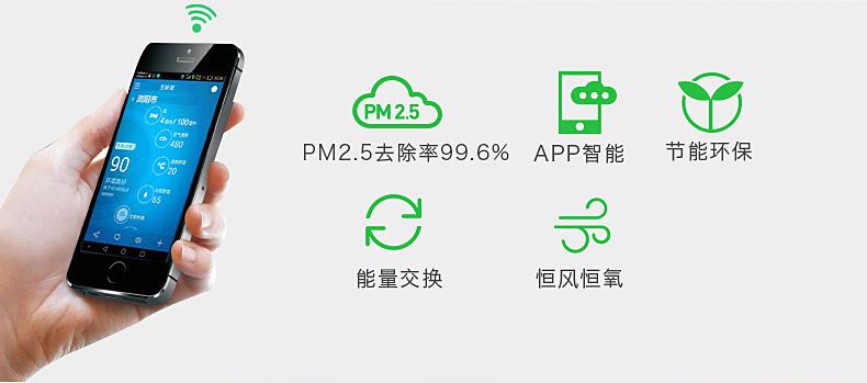 舒尔新风机新风系统可手机APP控制系统