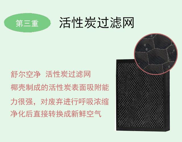 舒尔空气净化器的活性炭过滤网